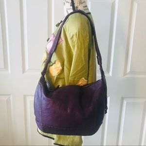 THE SAK Purple Leather Medium Sized Hobo Bag